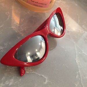 Red Cat Eye Sunglasses 100% UV Protection New